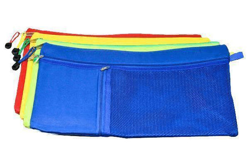 3 Compartment Fabric Pencil Case (Small & Assorted)