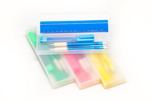 4pc Stationery Set with Hard Cover Pencil Case
