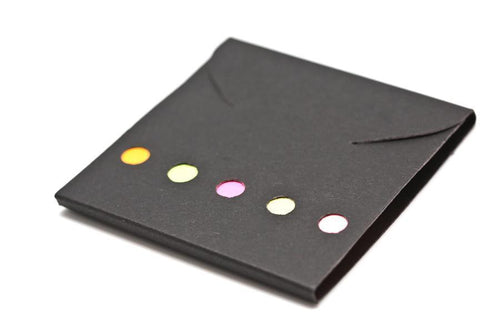 Post It Tabs + Pad, Paper (Black Cover)