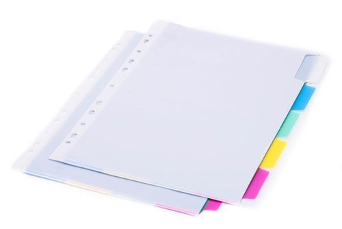 5 Compartment Folder with Binder Strip (4CF)