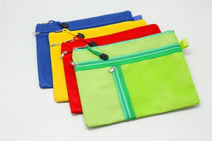 3 Compartment Fabric Pencil Case (A4)