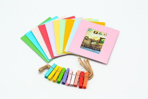 10pc Cardboard Photo Frame Colour