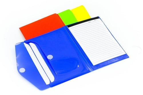 A5 notepad with 2-compartment sleeve