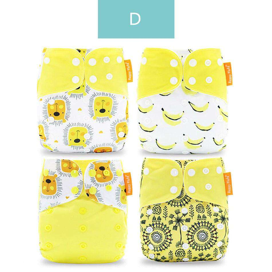 4pcs/set Washable Cloth Diaper | Heccei