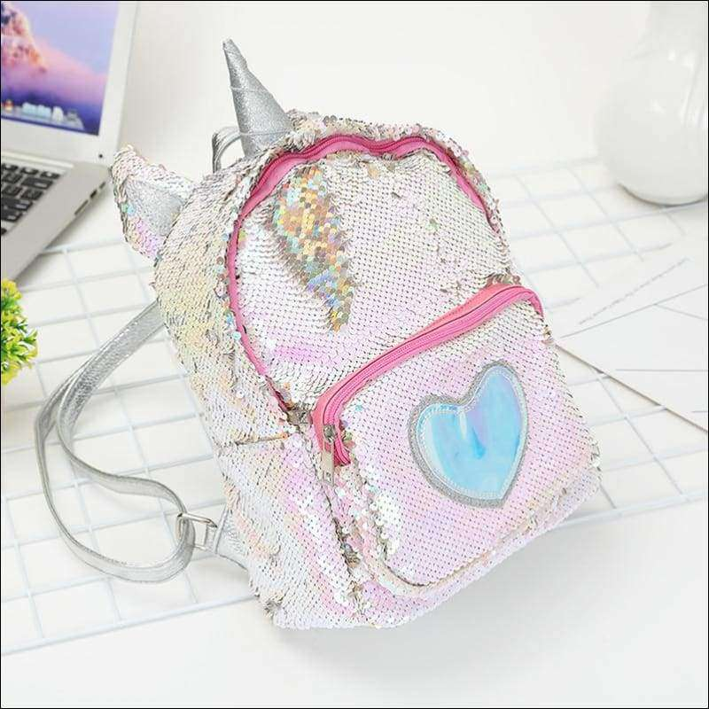 2019 Sequins Unicorn Backpack | Heccei
