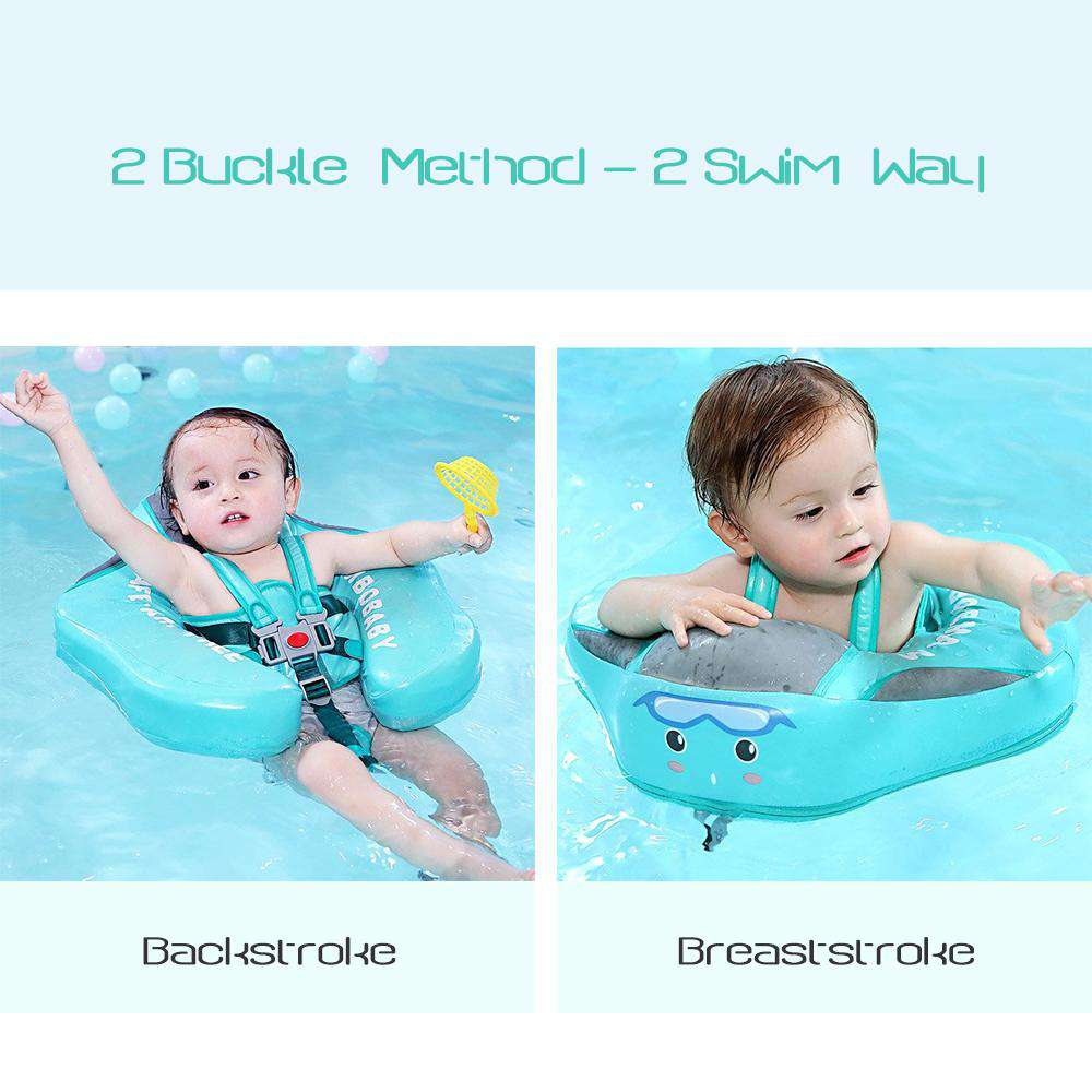 [Deluxe Edition]Mambobaby Swim Ring Float (Warerproof skin-friendly leather) | Heccei