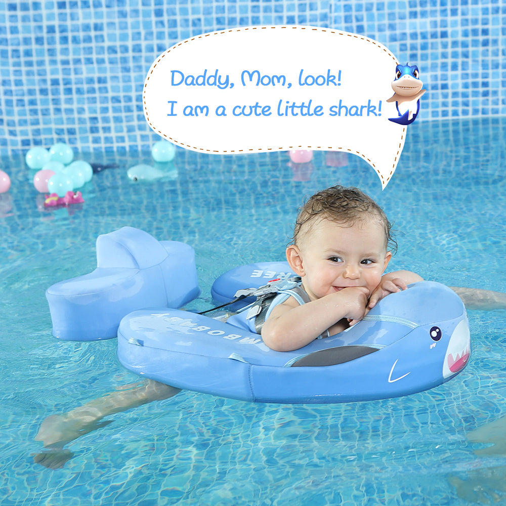 [Limited Edition]Baby Shark Mambobaby Swim Ring Float(Add Tail Back Flip Prevented) | Heccei