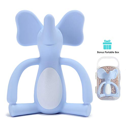 Elephant Teether - Blue | Heccei