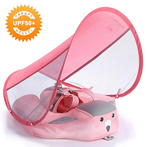 Mambobaby Swim Float with Canopy - Pink (Deluxe Edition) | Heccei