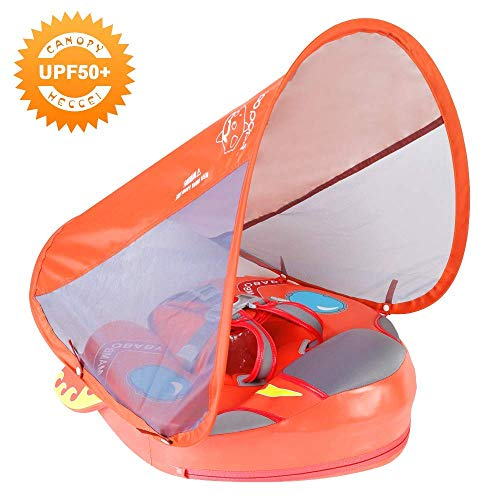 Mambobaby Spaceship Baby Float with Canopy - Coral (Special Edition) | Heccei