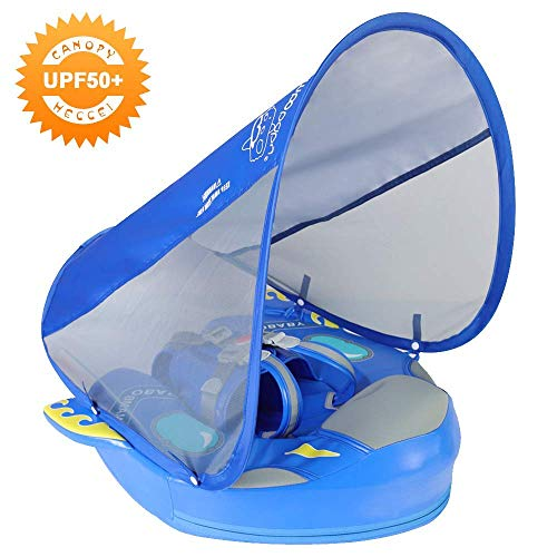 Mambobaby Float with Canopy - Spaceship Blue (Special Edition) | Heccei