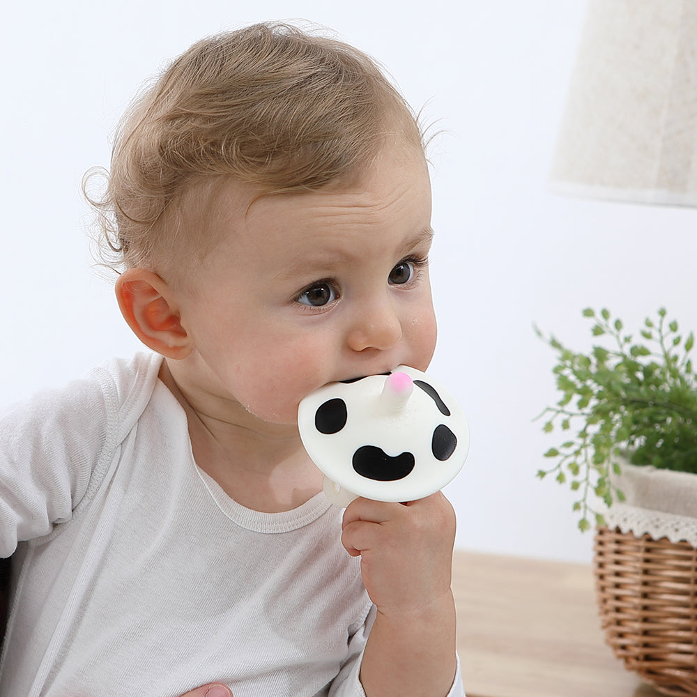 Mambobaby Silicone Baby Teether with box Milk Cow Cartoon | Heccei