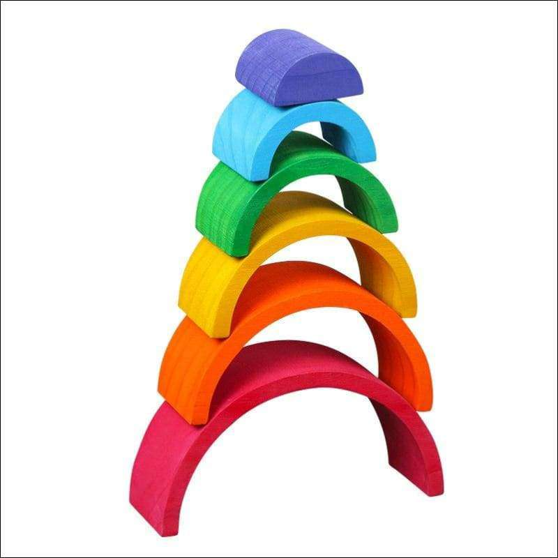 6-Piece Rainbow Stacker | Heccei