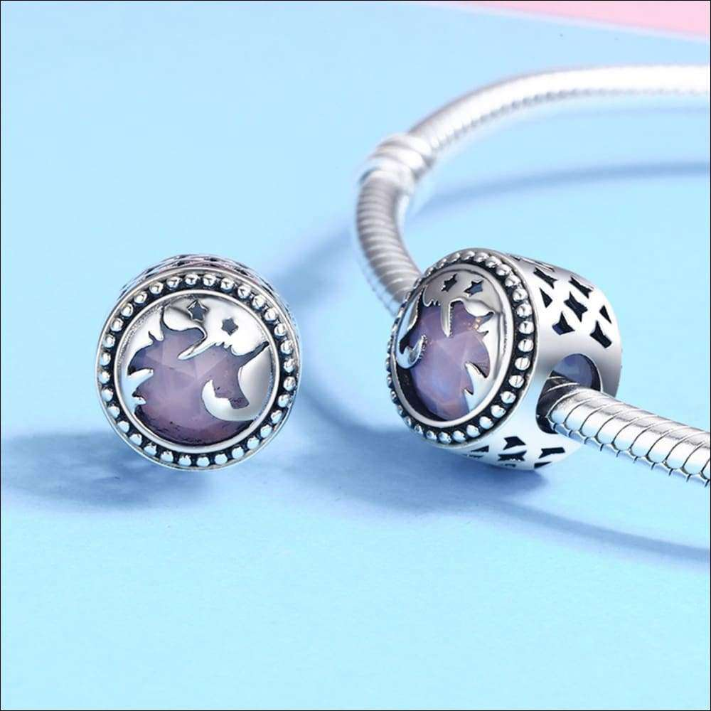 925 Sterling Silver Fantasy Unicorn Charm Beads | Heccei