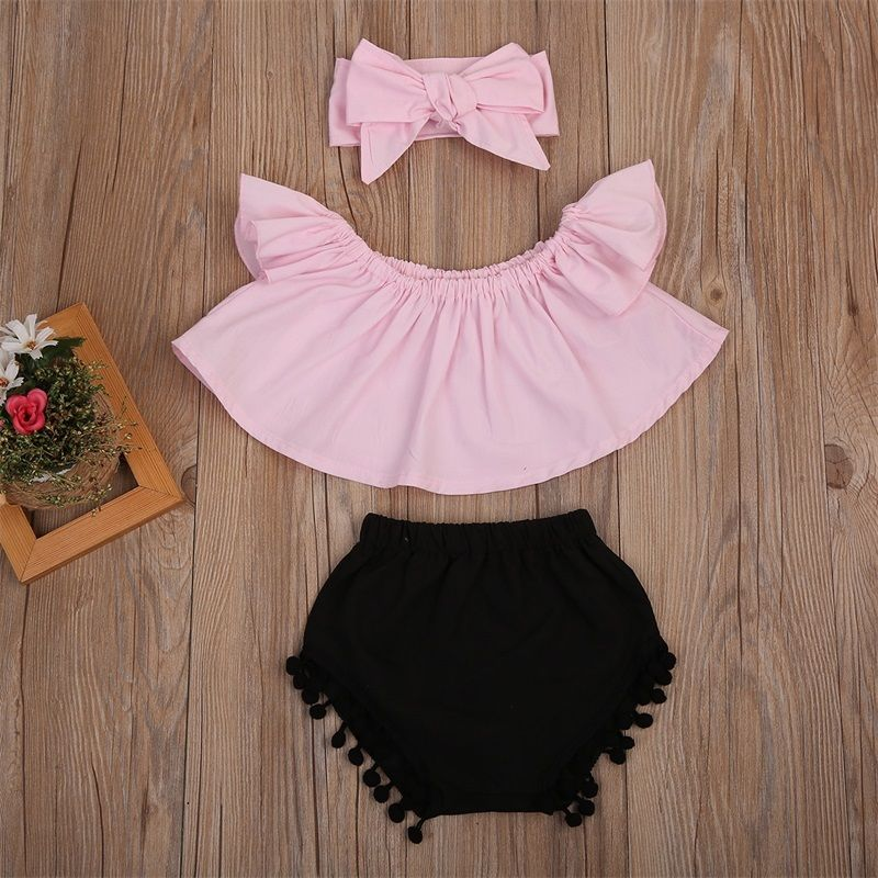 Baby Kids Girl Clothes T-shirt+Short Pants Outfits Set | Heccei