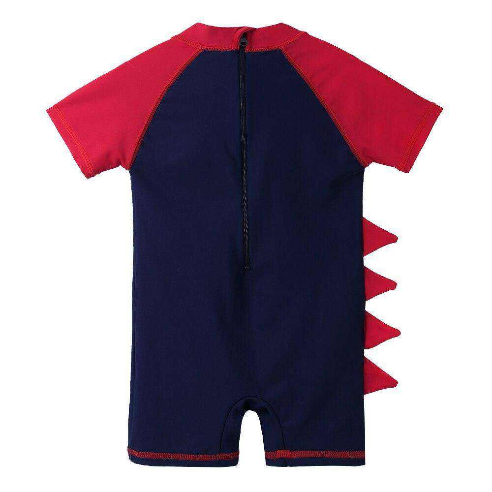 Dinosaur Sun Protection Swimsuit For Kids | Heccei