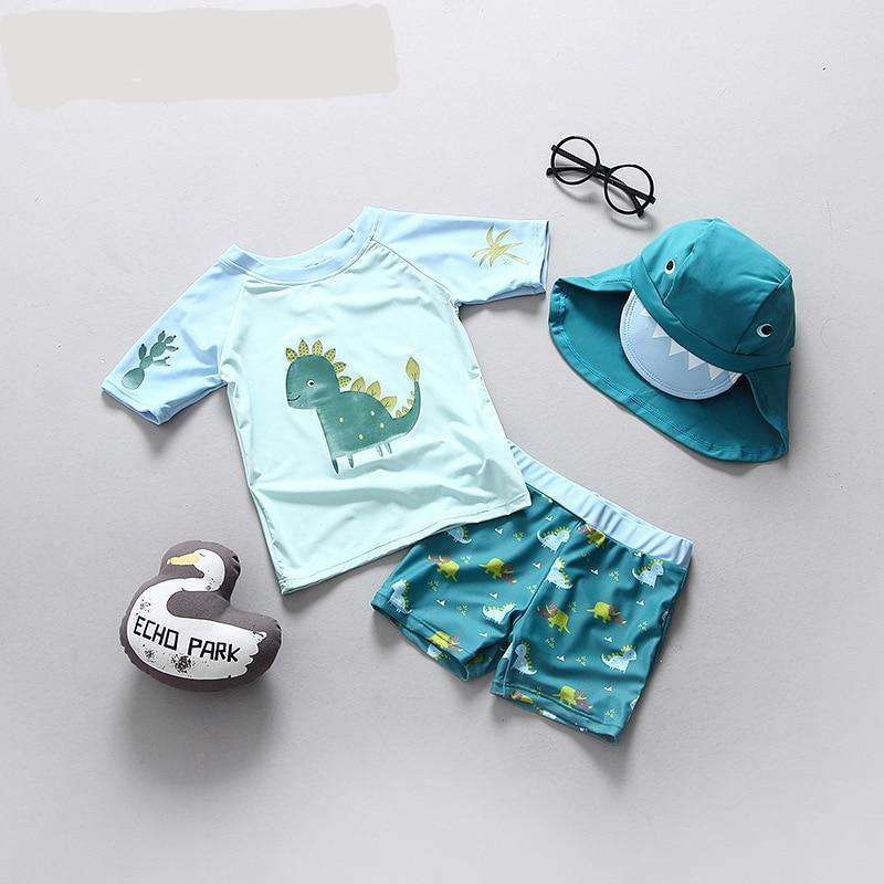 Boys Swimsuit Dinosaur | Heccei