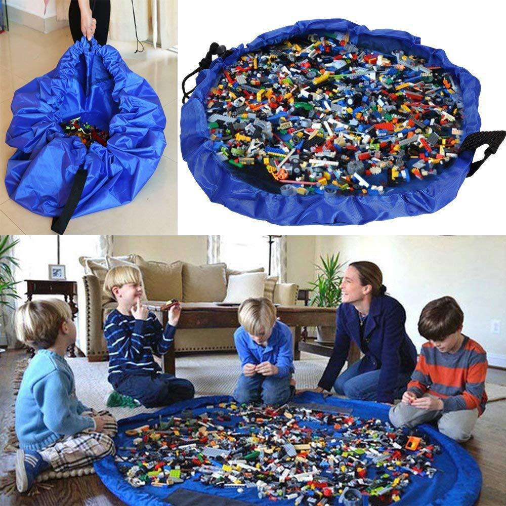 Kids Toy Storage Bag and Play Mat Lego Toys  Storage Bags | Heccei