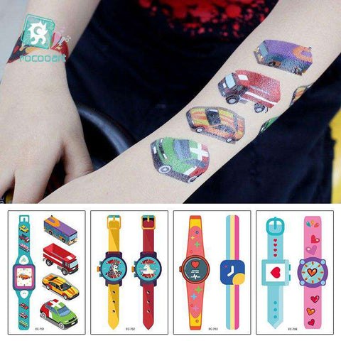 Watches tattooing temporary stickers series toy cars Unicorn stickers