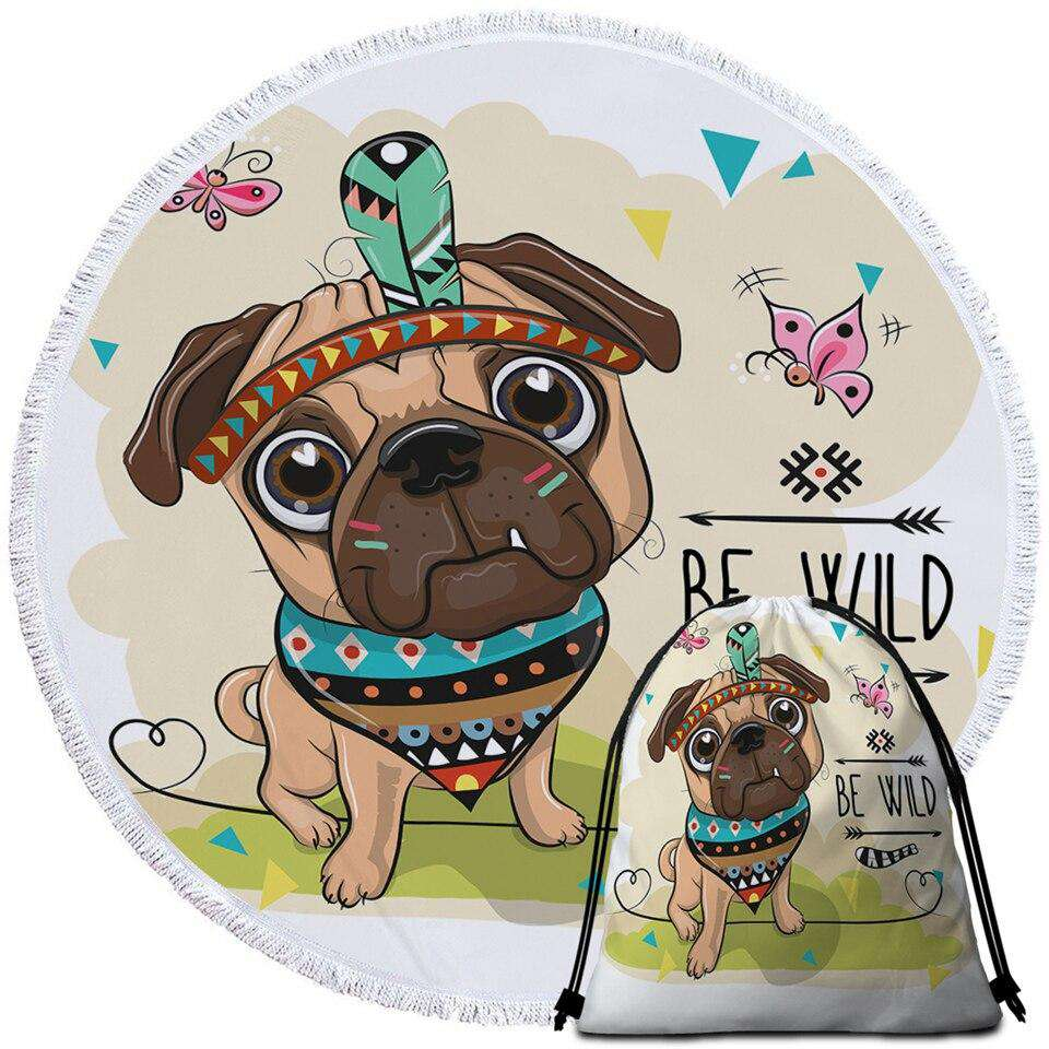 Cartoon Round Beach Towel | Heccei