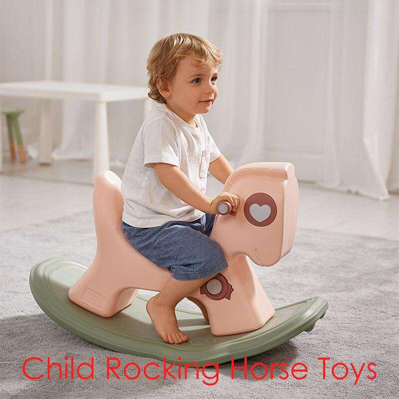 Baby Rocking Horse Ride on Toys 3-in-1 Kids Household Walker | Heccei