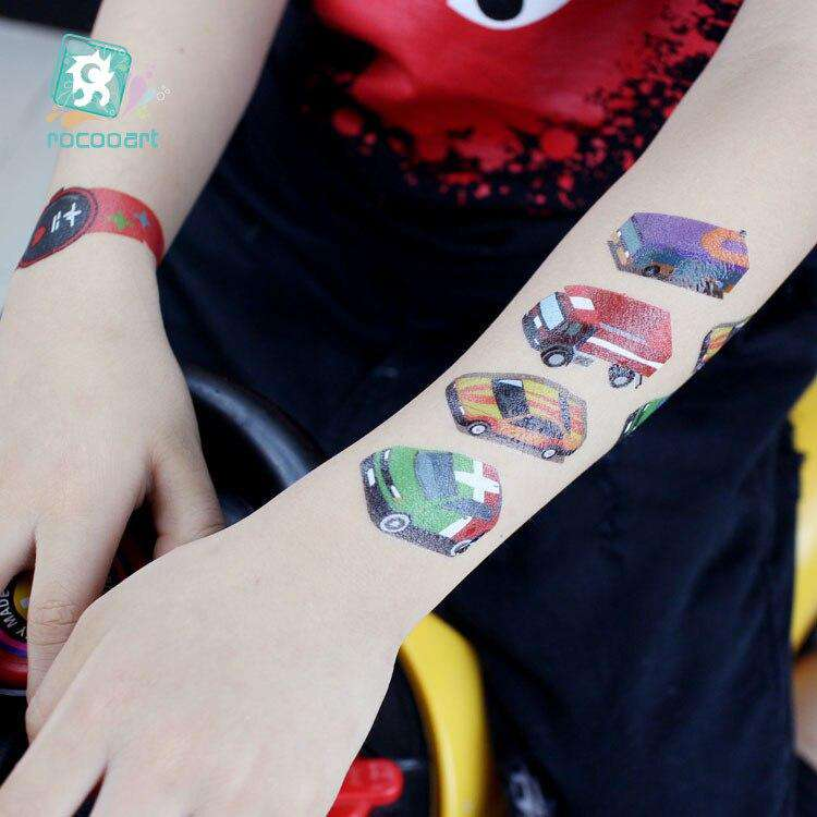 Watches tattooing temporary stickers series toy cars Unicorn stickers | Heccei