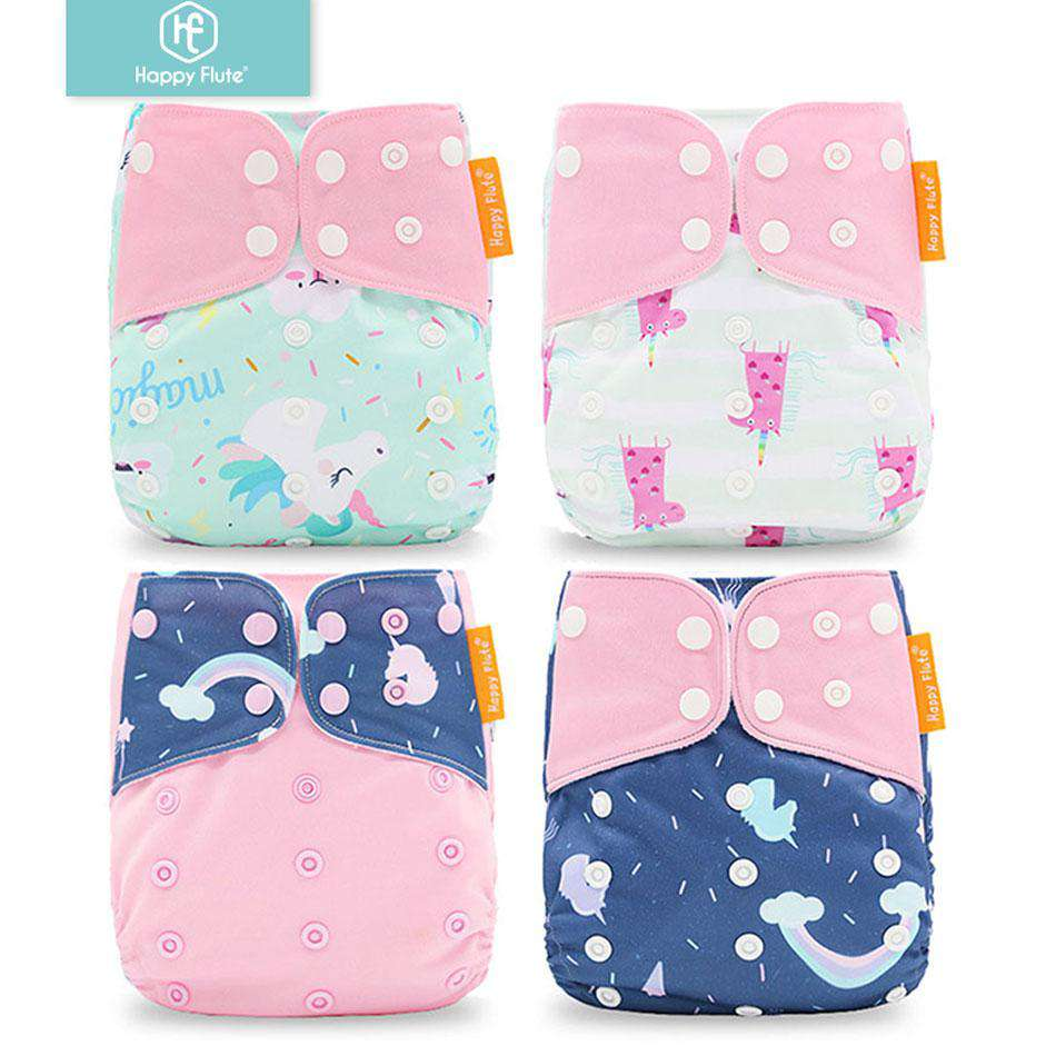 4pcs/set Washable Cloth Diaper