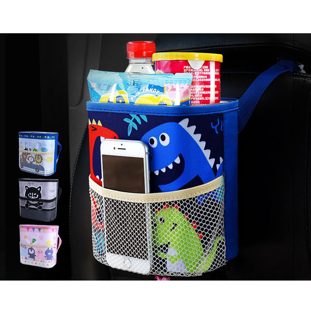 Dragonpad Car Trash Can Hanging Multifunction Car Storage Box | Heccei