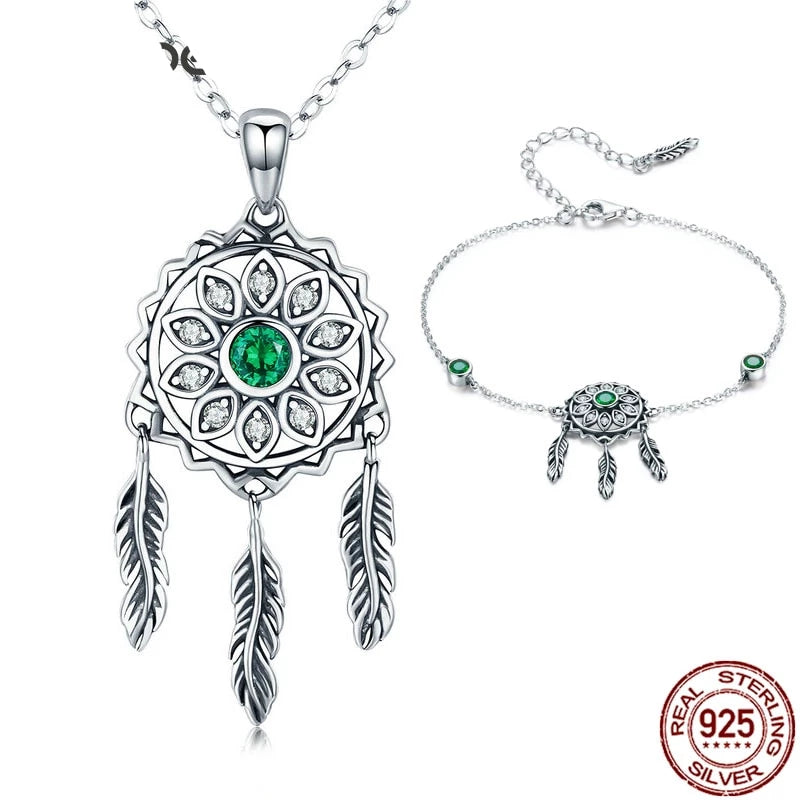 Dream Catcher Bracelets & Necklaces Jewelry Sets | Heccei