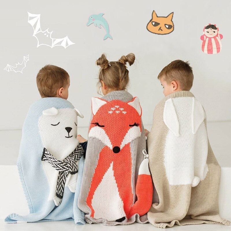 Bear/Fox/Rabbit Cute Baby Blanket | Heccei