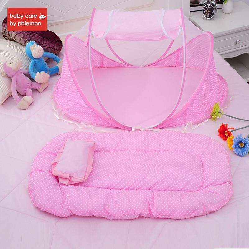 Baby Bed Crib Folding Baby Mosquito Net | Heccei