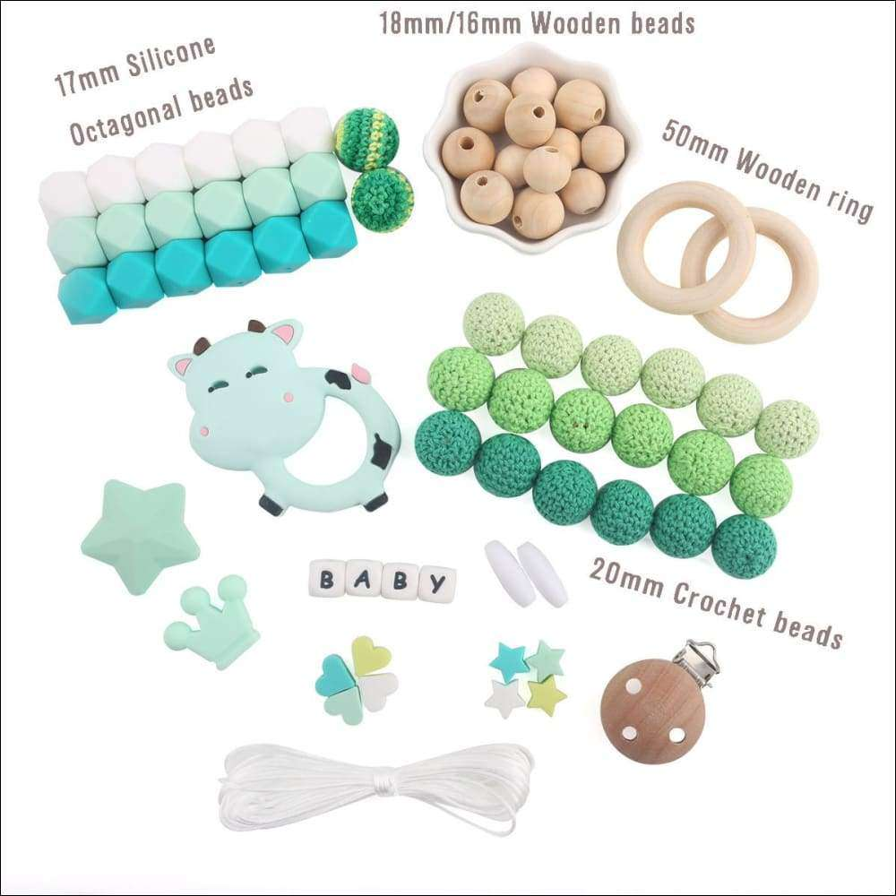 Baby Teether Accessories Silicone Beads DIY Kits | Heccei