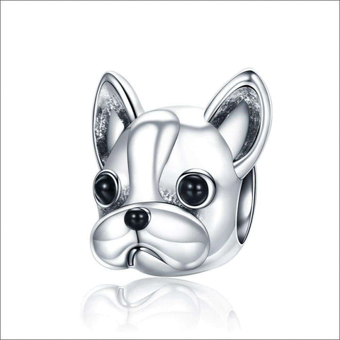 Bulldog Beads fit Women Charm Bracelets Dog DIY Jewelry | Heccei