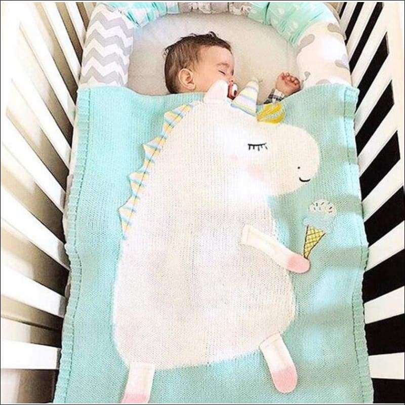 Cartoon Unicorn blanket for baby | Heccei