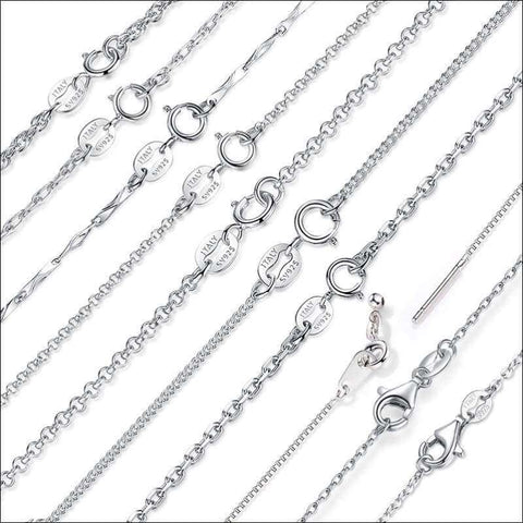 Classic Basic Chain 100% 925 Sterling Silver | Heccei