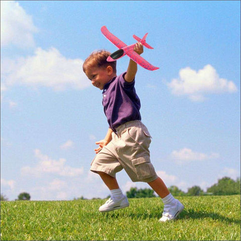 Foam Hand Throw Airplane for kids outdoor
