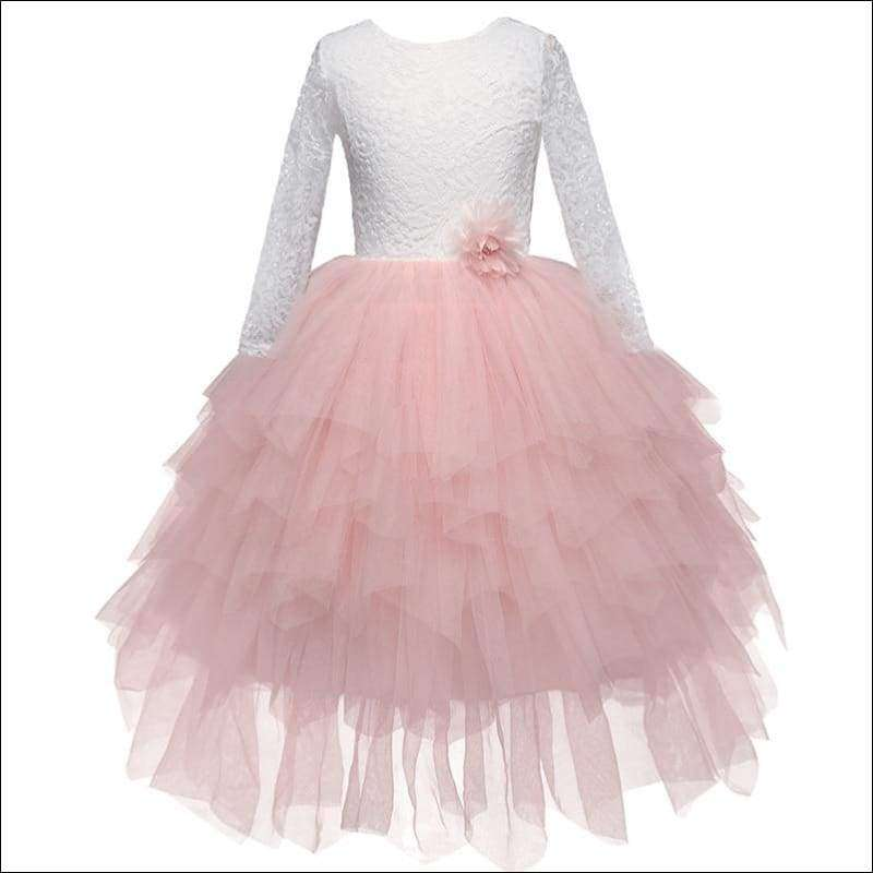Lace Backless Tutu Dress for Little Girls | Heccei