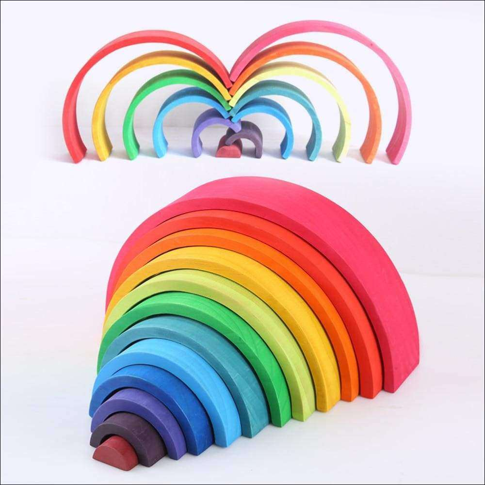Large 12-Piece Rainbow Stacker | Heccei