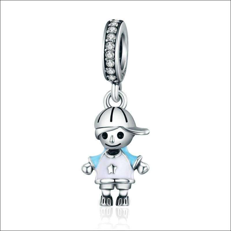 Little Boy & Girl Pendant Charm | Heccei