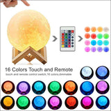 Moon Lamp/Night Light 16 color with remote | Heccei
