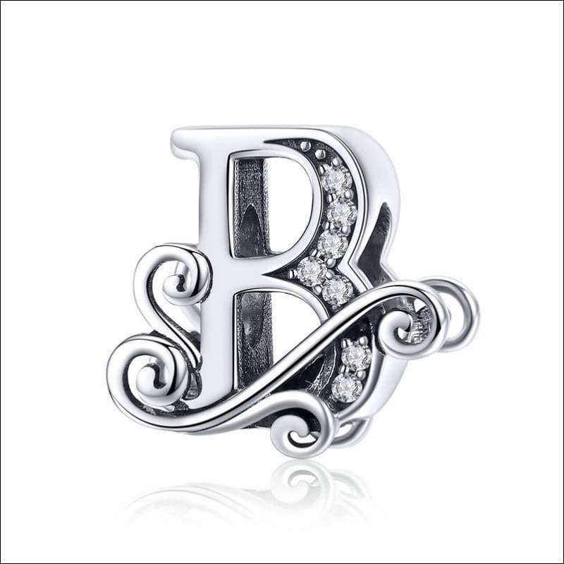 Newest 925 Sterling Silver A to Z Alphabet Bead Charms | Heccei