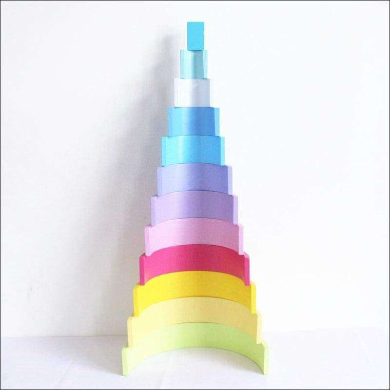 Pastel Rainbow Stacking Tunnel | Heccei