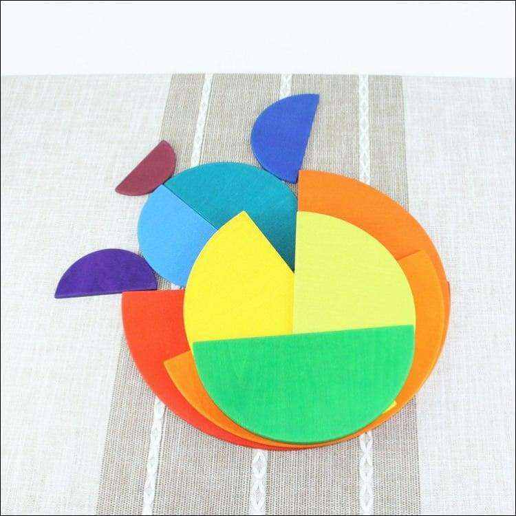 Rainbow Semi-circles Building Set 11pcs | Heccei