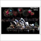 Scratch Art Sydney City Night View Painting 40*28.5 cm | Heccei