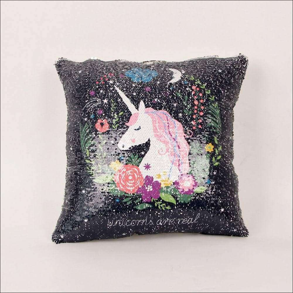 Sequins Unicorn Cushion Cover 40*40 | Heccei