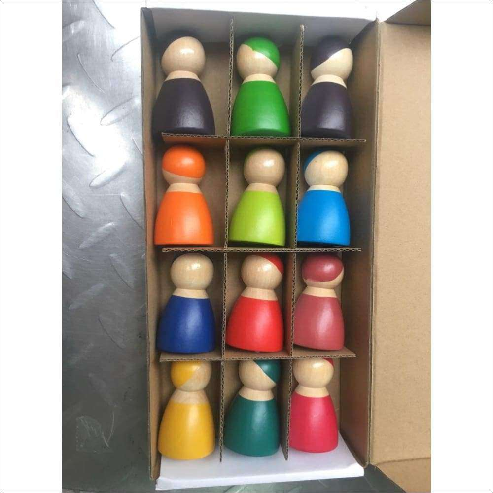 Set of 12 Rainbow Friends Dolls | Heccei