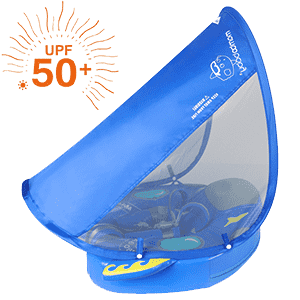 Mambo baby Swim Ring Float with Canopy | Heccei