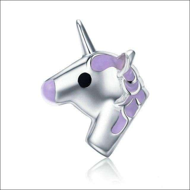 Sterling Silver Fairy Unicorn Charm Beads | Heccei