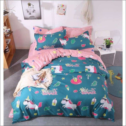 Unicorn and Flamingo Bedding Sets | Heccei