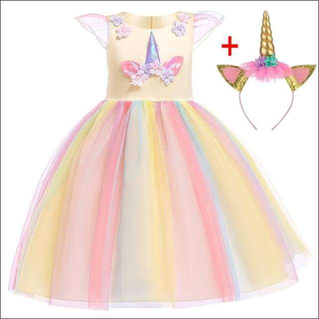 b7564421fc HECCEI the unicorn - Unicorn Costume Outfit Princess Party Dress with  Headband– Heccei